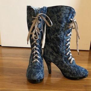 🎉HP🎉 Vero Cuoio Denim Boots
